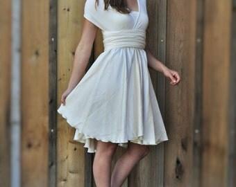 Infinity Dress, Organic Cotton Wedding, Silk Convertible Dress, Hemp Dress