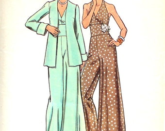 Halter Evening Jumpsuit Bust 34 Butterick 6971