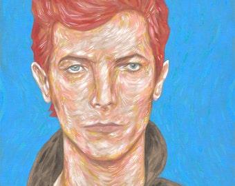 "David Bowie  - portrait giclee art print 8""x10"""