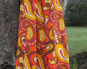 Sleeveless S Tent Trapeze Dress Bold Bright Psychedelic Op Art Floral Vintage 60s 1960s