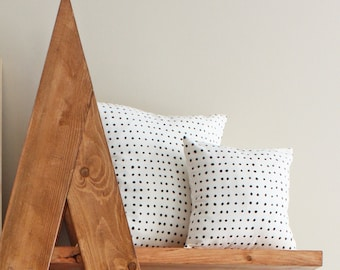 "12"" Organic Cotton Pillow - PINS - housewares - decorative - american made"