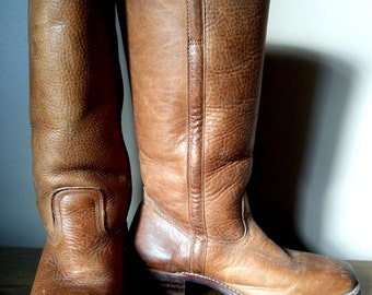 Amazing Caramel Brown Leather Knee High FRYE Boots 9