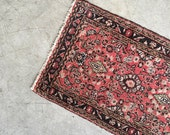 Red & Pink Handwoven Rug - 3ft x 2ft