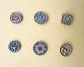 Group of 12  Antique Victorian 1890 Era Decorative Metal Buttons with Flower, Foliage, Ornamental Themes  Victorian Buttons, Antique Buttons