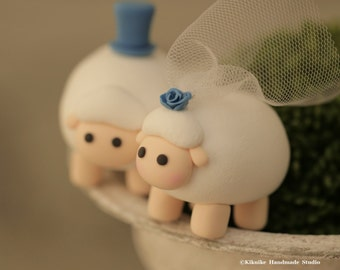 sheep Wedding Cake Topper-love sheep