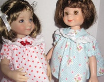 Blue Baby Doll Pajama's for 14 inch Betsy McCall and 13 inch Little Darling Doll, Dianna Effner