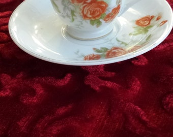 Vintage Demitasse Cup and Saucer Made in Occupied Japan