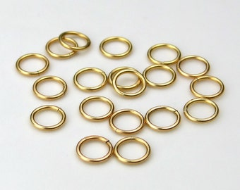 Set of 18 14K Gold Fill 6mm Closed Jump Rings