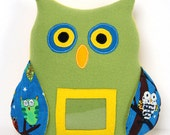 Reserved listing for Alice Anderson: stuffed toy picture frame / owl photo frame