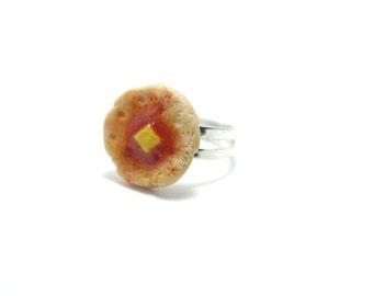 Pancake Ring, Miniature Food Jewelry, Polymer Clay Food Jewelry