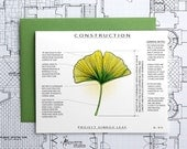 Project Ginkgo Leaf - Blank Architecture Construction Card