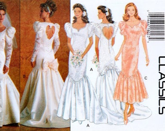 Vintage Butterick 3183 Misses' Wedding or Bridesmaid Dress Sewing Pattern Size 8-10-12 UNCUT