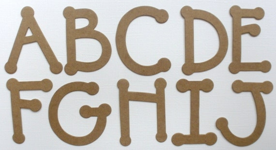 die cut letters items similar to 2 quot dot font chipboard die cut alphabet 21364 | il 570xN.906477880 eurt