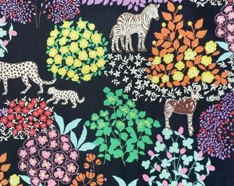Echino by Etsuko Furuya - Cotton Linen Fabric - Bond EF704 Black, select a length