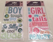 EK Success, 3D Embellishment, Scrapbooking, Jelly Stickers, Dimensional Stickers,Whimsical, Card, Tag, Crafting Supply, Boy, Girl