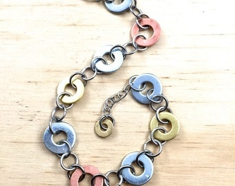 mixed metal chain bracelet Hardware Jewelry