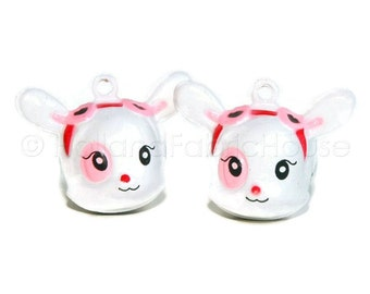 Kawaii Jingle Bell Charms -- Cute Deer: Set of 2