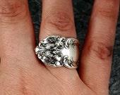 Spoon Ring Festivity Tiger Lily Silver Plate MR0301-DBI147
