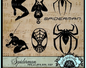 Spiderman SVG, Spiderman Silhouettes, Spiderman Spider-man, SPiderman Clipart, ai, svg,eps,png, dxf