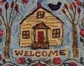 A Welcome Rug rug hooking patterns