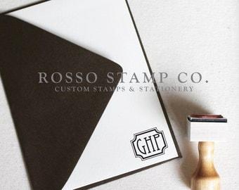Monogram Stamp, Wedding Monogram Stamp, Custom Stamp - Style No. 12