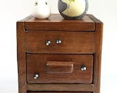 Totoro dolls on TEAK WOOD BOX with drawers 166