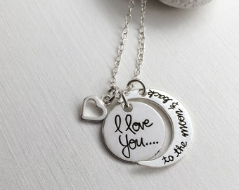Love You To The Moon And Back Necklace in Sterling Silver