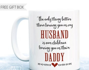 Personalized Gift for Husband Best Dad Ever Husband Birthday Gift Daddy Coffee Mug Personalized Fathers Day Gift Special Husband  #CM506