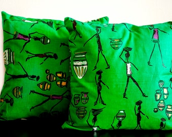 pillow cover, 14 x 14 pillow covers, African print pillow covers, pillow cover 14 x 14, Hostess gift, African fabric, cushion cover, African