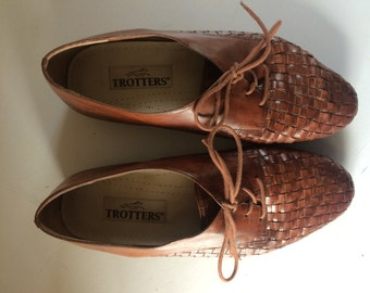 Vintage Woven Trotters' Oxfords