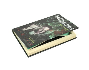 The X-Files Hollow Book Box Booksafe Gift Box Handmade BooksafenXfiles X Files Gift Birthday Hand Carved - Antibodies - READY TO SHIP