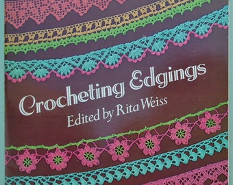 Crocheting Edgings Rita Weiss Dover Needlework Series 1980 US crochet patterns book lacemaking lace edgings butterfly motif Crinoline Lady