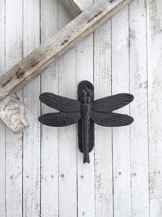 Dragonfly door knocker front door decor iron wall by camillacotton - Dragonfly door knocker ...