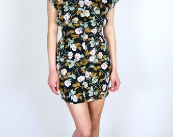 Beautiful Zip up Floral Sun Dress size S