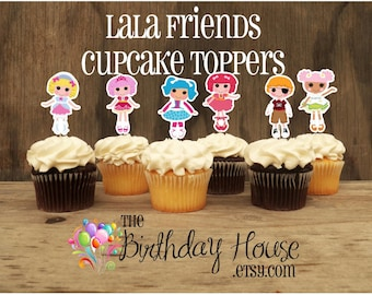 Lala Dolls - Set of 12 Double Sided Assorted Lala Dolls Cupcake Toppers by The Birthday House