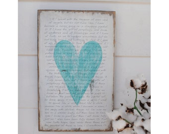 1 Cor. 13 distressed wooden sign