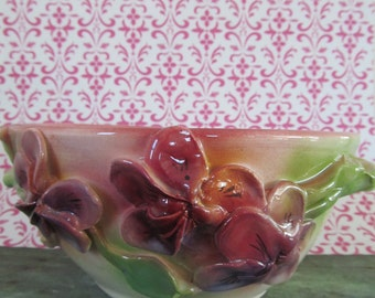 Handmade pottery Pansy Bowl By Lark Roderigues