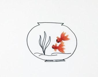 Tiny Gold Fish/ Gold Fish Miniature/ Gold Fish Dollhouse/ Fairy Garden