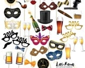 NEW YEARS EVE Photo Props. Instant Download. Printable. 2016. Photo Booth Props Photobooth Props. nye. New Years Eve Party.