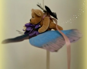 Faerie Pilot-Butterfly Mobile with Teddy