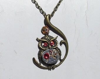 Steampunk Owl Vintage Watch Movement Victorian Owl