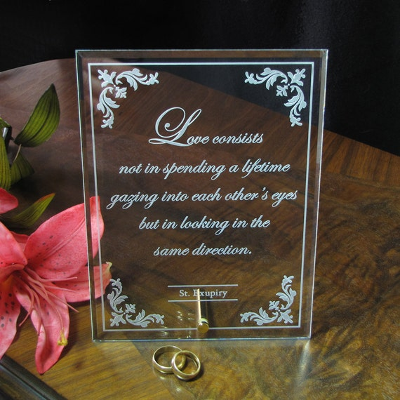 Wedding Gifts For The Couple : Custom Personalized Wedding Gift for Couple, Engraved Glass, Wedding ...