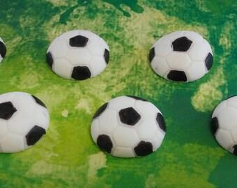 Edible Fondant Soccer Balls - Cake Toppers - Cupcake Toppers - Fondant Toppers - Soccer Fondant Toppers - Sports