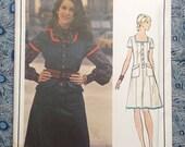"""Vogue Paris Original 2680 Emanuel Ungaro UNCUT 1972 women's dress pattern, size 12, Bust 34"""""""