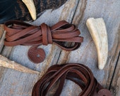 6mm Fudge Brown Deer Suede Leather, Deerskin, 6.5 feet (2 meters), 1 long strap, Deer hide, Buckskin, Soft Deer Suede, Supply
