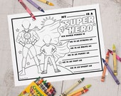 INSTANT DOWNLOAD printable fathers day coloring activity sheet great for classroom activity Can be used for step dad, dad, grandpa, pops
