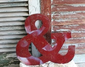 Vintage Metal Sign Ampersand Sign or the And Sign by avintageobsession on etsy