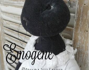 HANDMADE OOAK bunny rabbit doll - Emogene