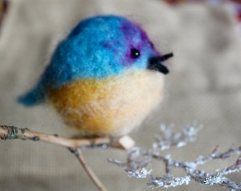 Felted Wool Bird