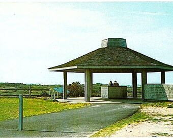 Vintage Cape Cod Postcard - Interpretive Shelter at Pilgrim Spring, North Truro (Unused)